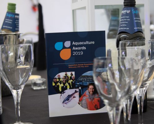 Bord dekket på for aquaculture awards 2019